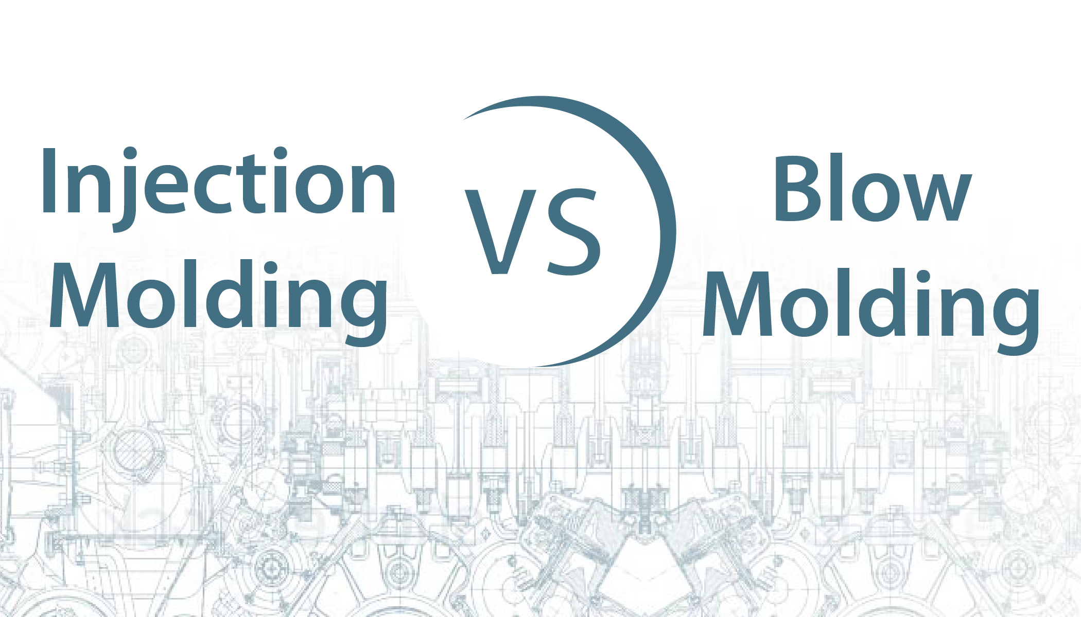 Difference between injection molding and blow molding