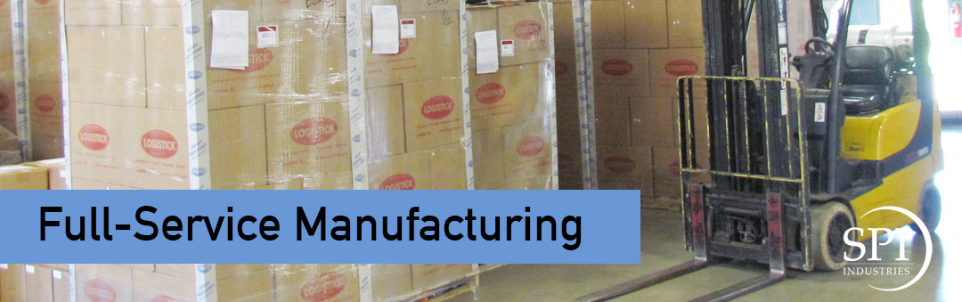 SPI Full service manufacturing boxes in warehouse with forklift great lakes region